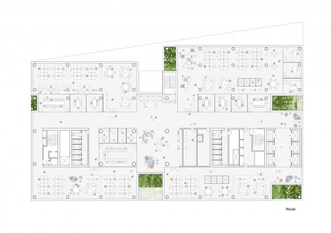Многофункциональный комплекс Urban Mountain © schmidt hammer lassen architects