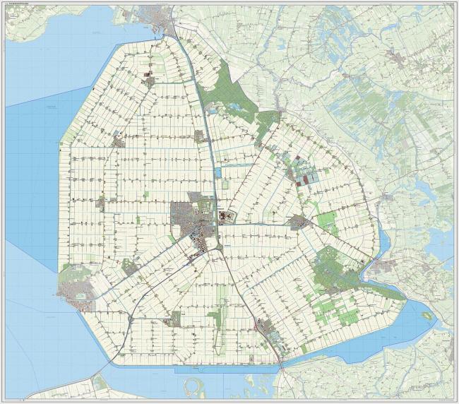 Нордостполдер. Карта 2013. Предоставлено Jan-Willem van Aals via Wikimedia Commons