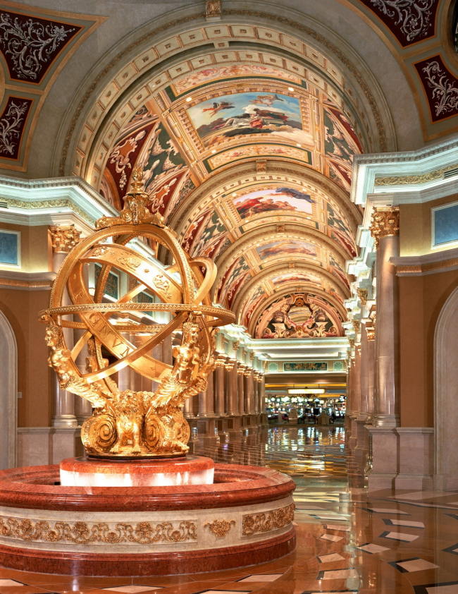 Гостиничный комплекс The Venetian Resort Hotel Casino в Лас-Вегасе. Предоставлено Venetian Resort