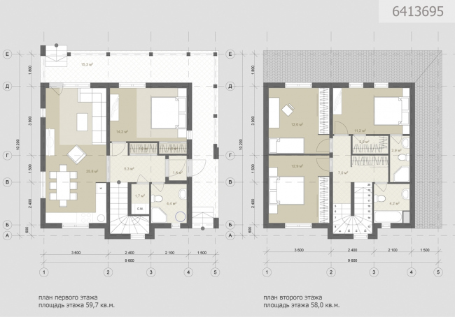Проект индивидуального жилого дома. Планы