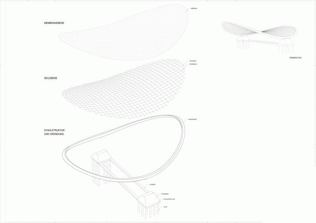 Перекрытие парковки и павильон в VW Autostadt © Graft Architects