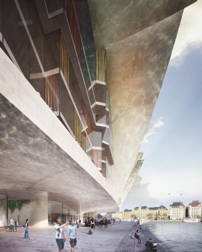 «Приземляющиеся чайки». Marcel Meili, Markus Peter Architekten © Nobelhuset AB