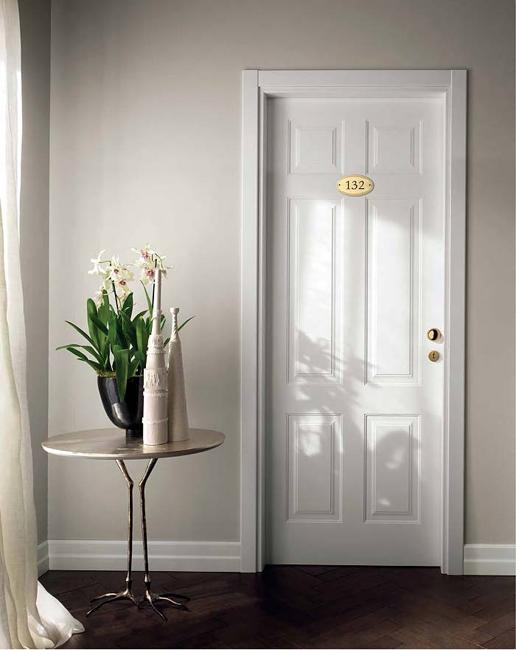 Противопожарная дверь GDESIGN REI-60, белая лакировка с фрезеровкой MIRABILIA 6B