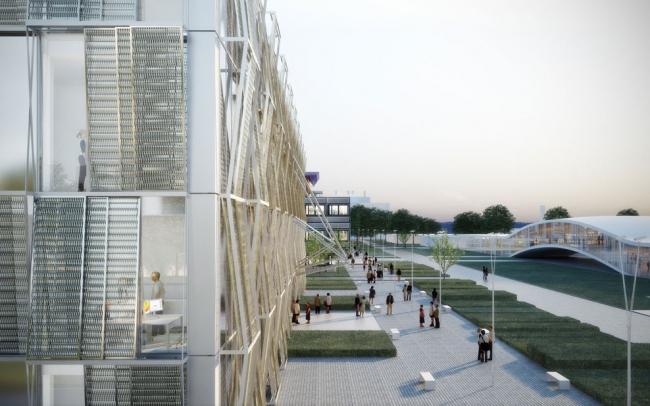 Корпус ME Федерального политехнического университета Лозанны © DPA / Adagp
