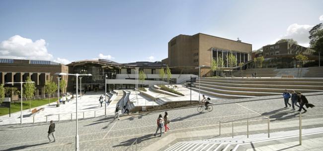 «Высшее образование и исследования». Комплекс Форума Эксетерского университета бюро Wilkinson Eyre Architects. Предоставлено WAF
