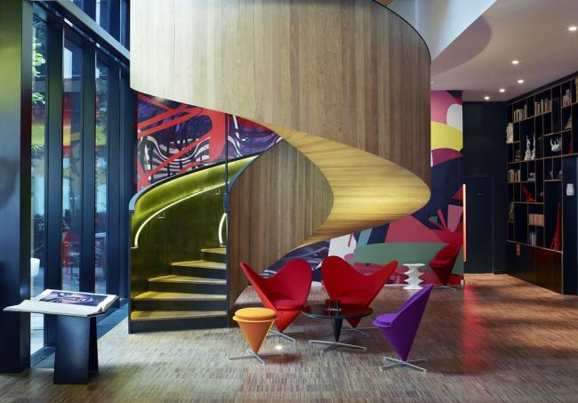 «Отель / досуг». Гостиница Citizen M London Bankside бюро Concrete. Предоставлено WAF