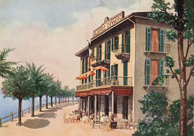 Отель Cannero. Иллюстрация с сайта www.hotelcannero.com