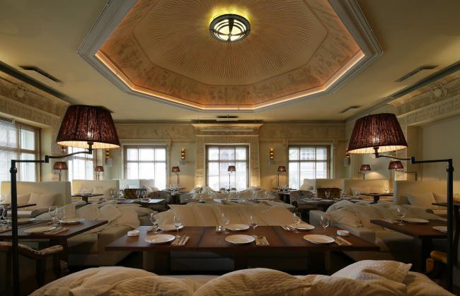 «Лучший дизайн общественного интерьера» Ресторан «Шехтель». Архитектурное бюро Archpoint. Фото: archpoint.ru