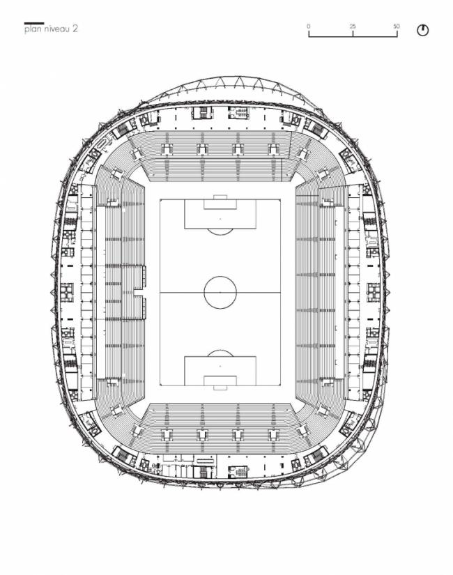 Стадион Allianz Riviera © Wilmotte & Associés