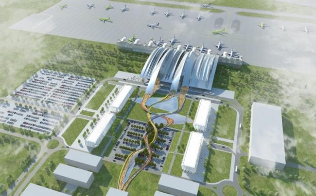 Проект аэропорта «Южный» бюро Twelve Architects & masterplanners. Иллюстрация с сайта twelvearchitects.com