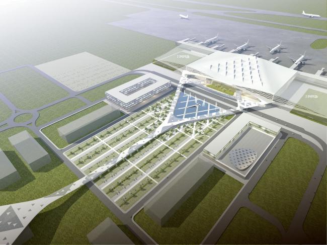 Проект аэропорта «Южный» «Архитектурного бюро Асадова». Иллюстрация предоставлена «Архитектурным бюро Асадова»