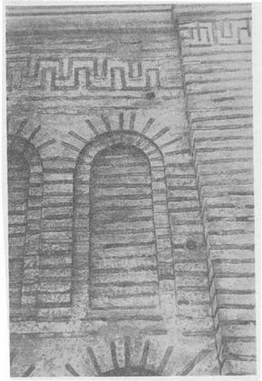 Киев. Церковь Спаса на Берестове. Фрагмент фасада.