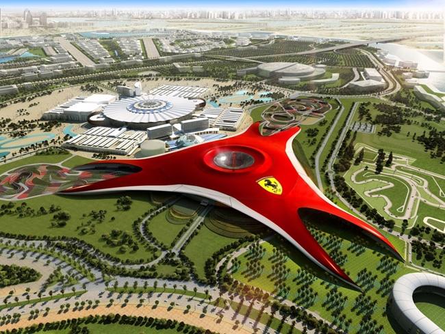 Парк развлечений Ferrari World. Иллюстрация предоставлена компанией Archi Studio