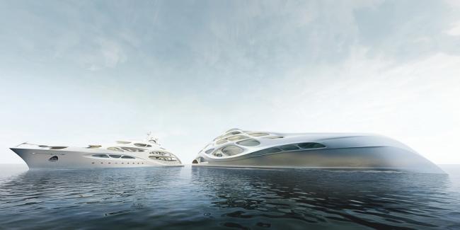 Яхта для Blohm+Voss © Zaha Hadid Architects