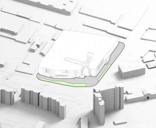 Архитектурно-градостроительная концепция размещения многофункционального комплекса на Хорошевском шоссе. Заказчик – ТПС «Недвижимость». Проектная организация – IQ Studio