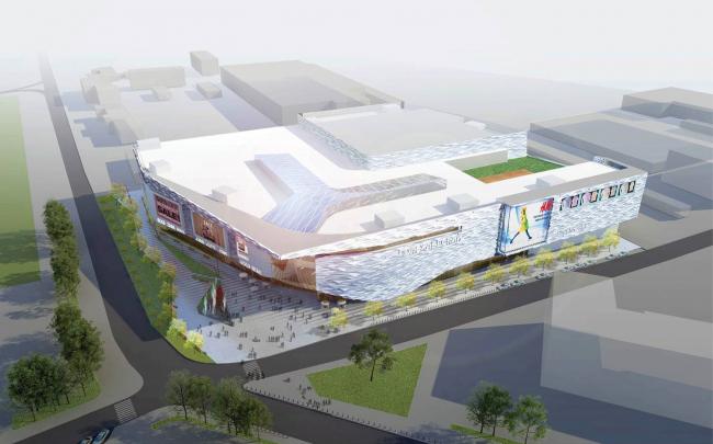 Архитектурно-градостроительная концепция размещения многофункционального комплекса на Хорошевском шоссе. Заказчик – ТПС «Недвижимость». Проектная организация – «АБ Асадова»
