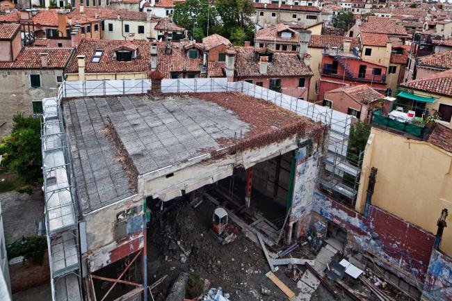 Зал Teatrino в Палаццо Грасси. Вид до начала строительства © ORCH orsenigo_chemollo