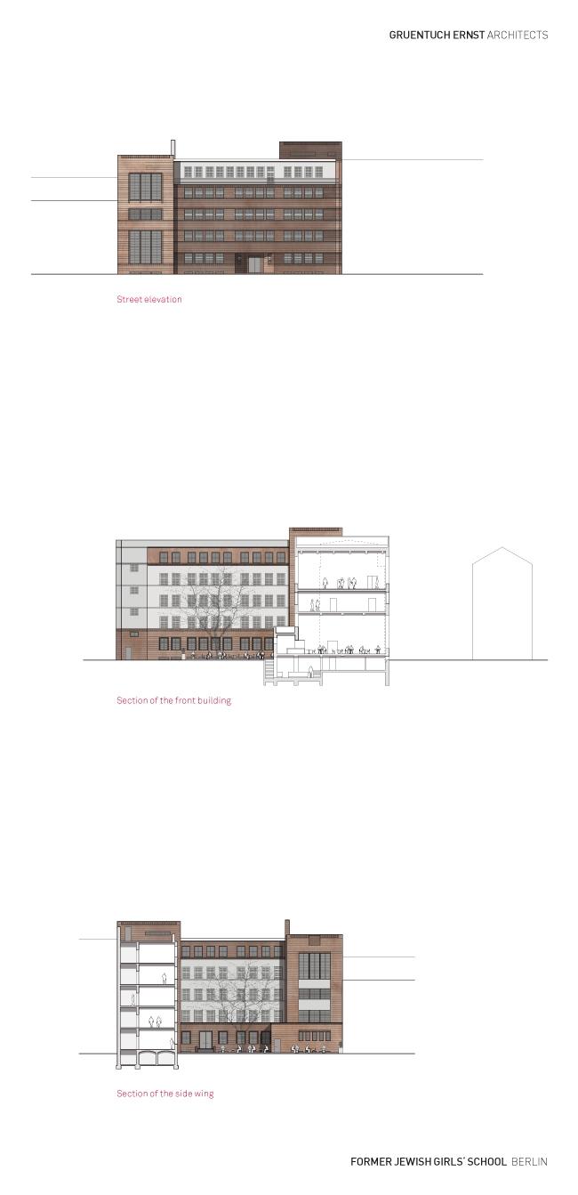Бывшая еврейская школа для девочек - реконструкция © Grüntuch Ernst Architekten