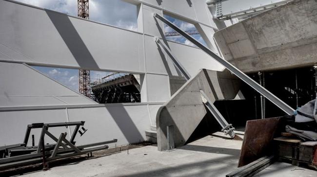 Библиотека и центр знаний Венского экономического университета в процессе строительства. Фото © boanet | www.campuswu.at