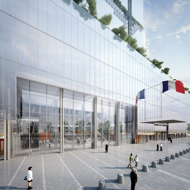Парижский Дворец правосудия. Предоставлено RPBW