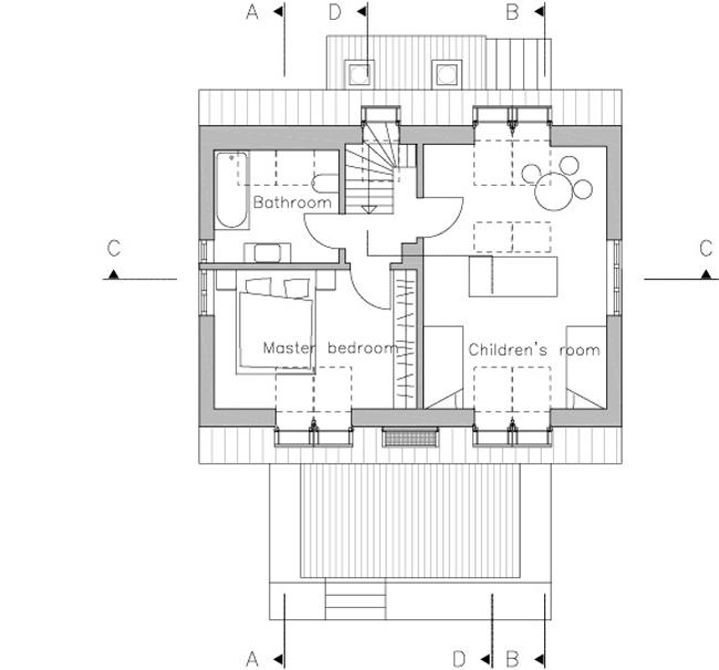План помещений в мансарде. Иллюстрация с сайта www.velux.com