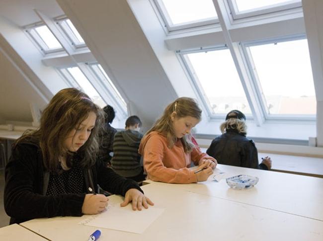 Школа Гулдберга. Фотография с сайта www.velux.com