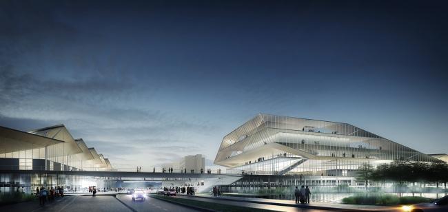 Выставочный центр PEX © Dietmar Feichtinger Architectes