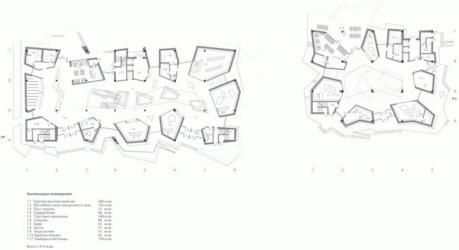 Международный многофункциональный деловой комплекс ремесел Арт-Палас. Проект-победитель. Totement/Paper. План первого этажа