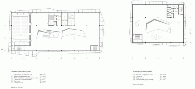Международный многофункциональный деловой комплекс ремесел Арт-Палас. Проект-победитель. Totement/Paper. План второго этажа