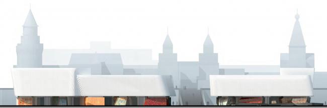 Международный многофункциональный деловой комплекс ремесел Арт-Палас. Проект-победитель. Totement/Paper. Фасад