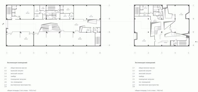 Международный многофункциональный деловой комплекс ремесел Арт-Палас. Второй вариант. Totement/Paper. План 2 этажа