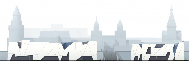 Международный многофункциональный деловой комплекс ремесел Арт-Палас. Второй вариант. Totement/Paper. Фасад