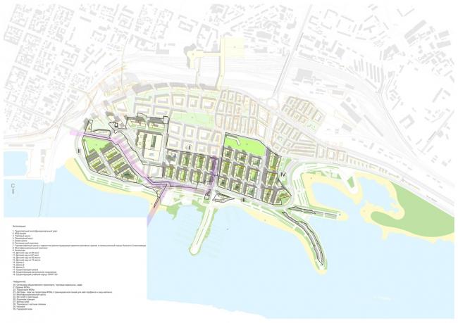 Схема планировочной организации территории с указанием очередности строительства. © «Симбирскпроект»