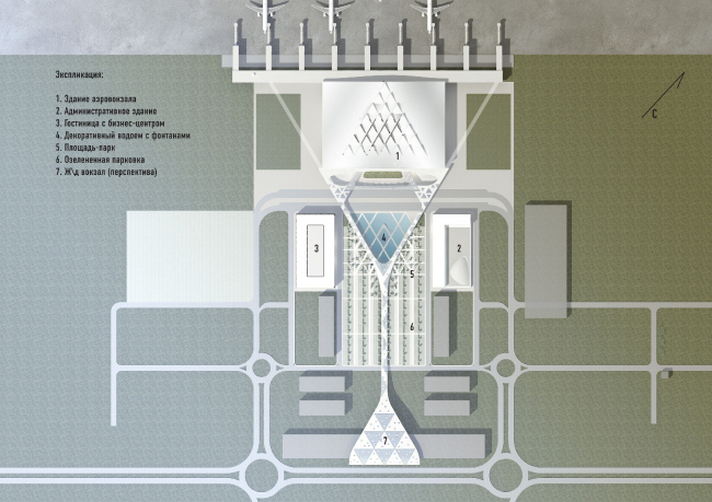 Концепция пассажирского терминала аэропорта «Южный» в г. Ростове-на-Дону © Архитектурное бюро Асадова