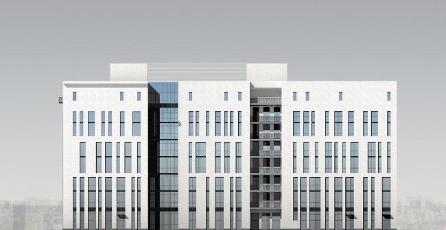 Северный фасад. © Мастерская архитектора Бавыкина
