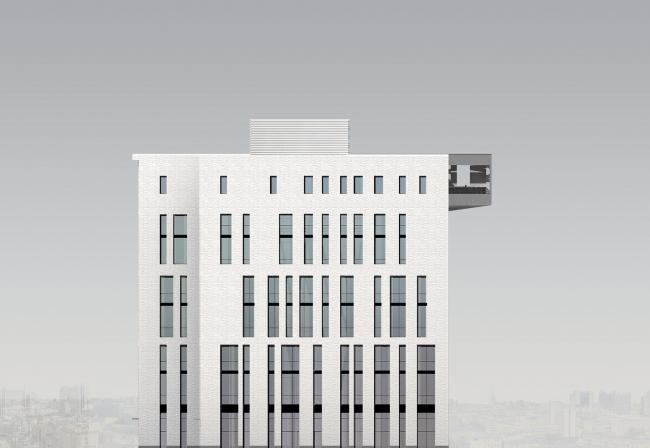 Западный торцевой фасад. © Мастерская архитектора Бавыкина