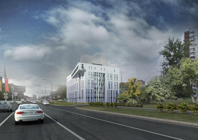 Вид с Можайского шоссе со стороны центра. © Мастерская архитектора Бавыкина