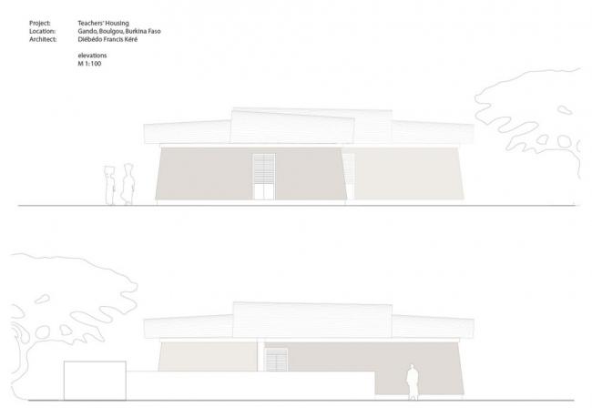 Дома для учителей начальной школы в Гандо © kere architecture