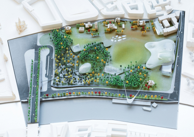 Парк «Зарядье». Консорциум Diller Scofidio + Renfo, Citymakers, Hargreaves, Ландшафтная компания ARTEZA. Генеральный план. Изображение предоставлено Diller Scofidio + Renfro с Hargreaves Associates и Citymakers