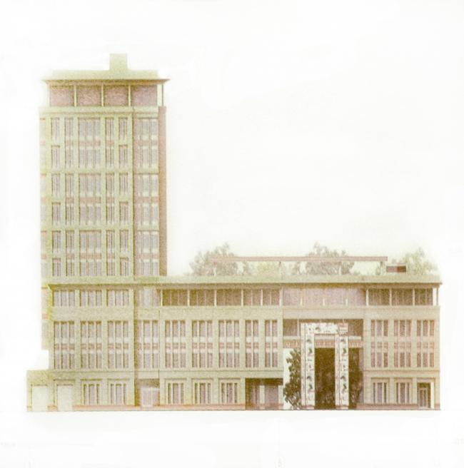 Эскизная версия гостиничного комплекса на Кожевнической улице, 2-4, утвержденная на ГЗК.