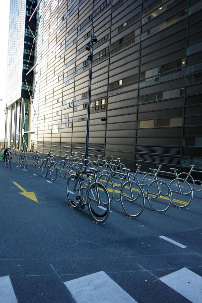 Стоянка для велосипедов в комплексе Barcode в Осло. Фото: Нина Фролова