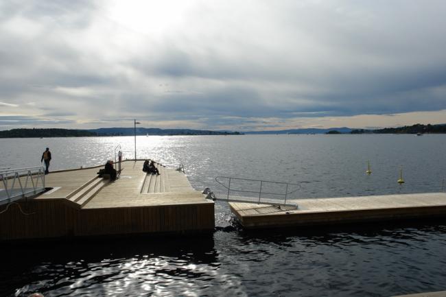 Пристань в районе Тьювхольмен в Осло. Фото: Нина Фролова