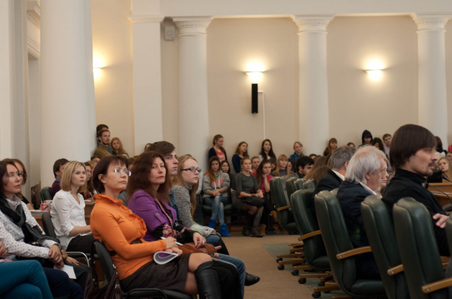 Слушатели на семинаре в Тюменском государственном архитектурно-строительном университете. Фото: Александр Гуртовой
