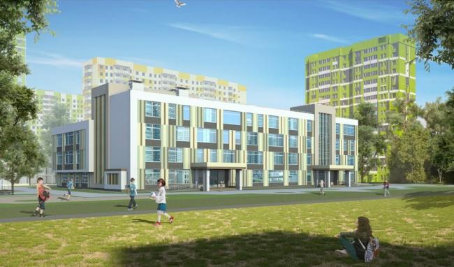 Школа на 550 мест на ул. Базовская, вл. 15, корп. 13. Изображение с сайта mka.mos.ru