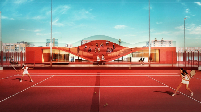 Теннисный клуб Couch © MVRDV