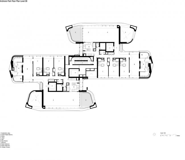 Жилой комплекс Ardmore © UNStudio