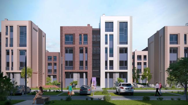 """Dutch Quarter"" residential complex in Ivanteevka. Project, 2013 © UNK project"