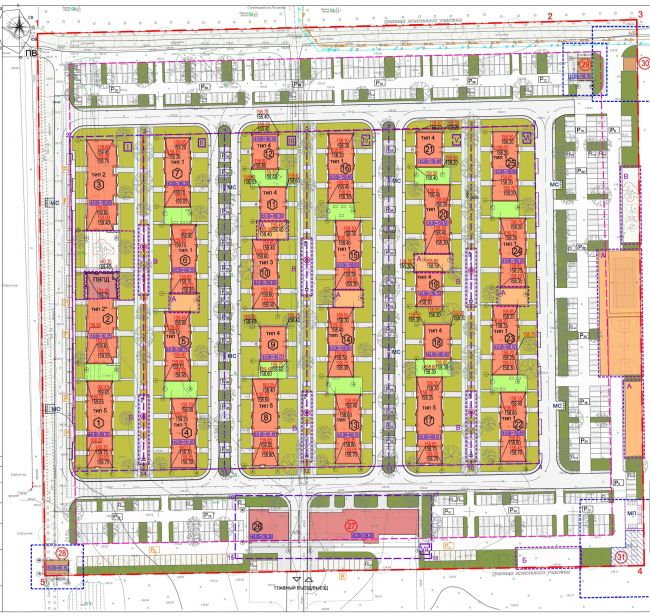 """""""Dutch Quarter"""" residential complex in Ivanteevka. Master plan. Project, 2013 © UNK project"""