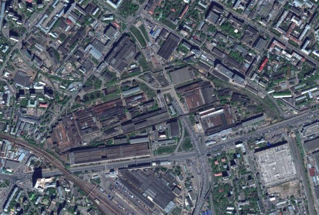 Территория завода «Серп и молот». Фотография: maps.google.com