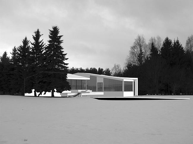 Дом 1, дом 2 для «курорта Пирогово». Проект, 2007 © Архитектурная мастерская Лызлова